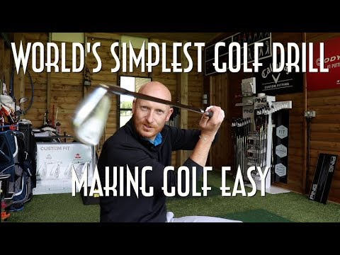 World's simplest golf drill