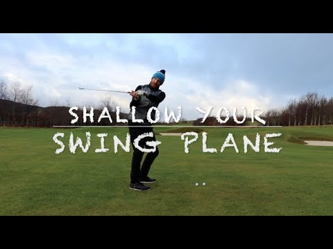 Golf swing plane STOP SLICING stop coming over the top