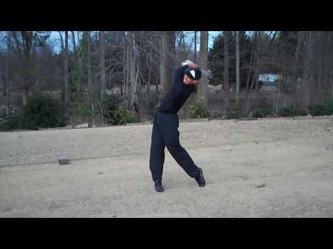 Left Handed Golf Swing (1 Handicap)