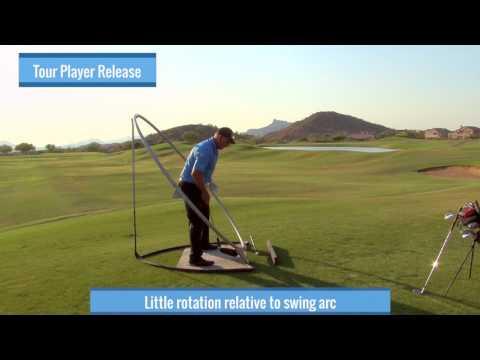 Malaska Golf – Releasing the Club – Correct Hand Action, Swing Arc, Club Face Control