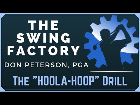 """GOLF LESSON –  """"HOOLA-HOOP DRILL FOR SWING TRANSITION"""