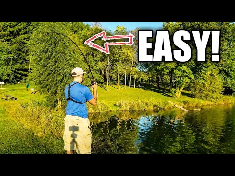 Bass Fishing for Beginners: How to EFFORTLESSLY Overhand Cast a Baitcaster (ROD ACTION TIP)