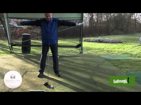 Tip 7   Driving the ball straight with Worsley Park's head professional David Screeton.