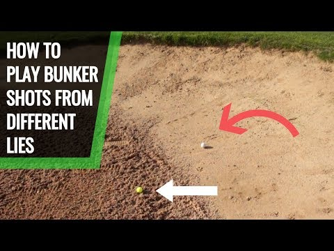 HOW TO PLAY BUNKER SHOTS FROM COMPACT AND WET LIES