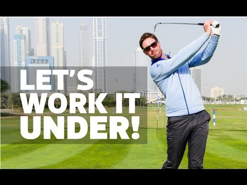 Work your left hand under for better ball striking