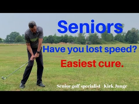 Simple lesson for Senior golfers who have lost distance on their golf shots
