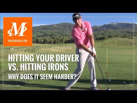 Malaska Golf // Hitting Driver vs. Hitting Irons – Learn how to go from one to the other.