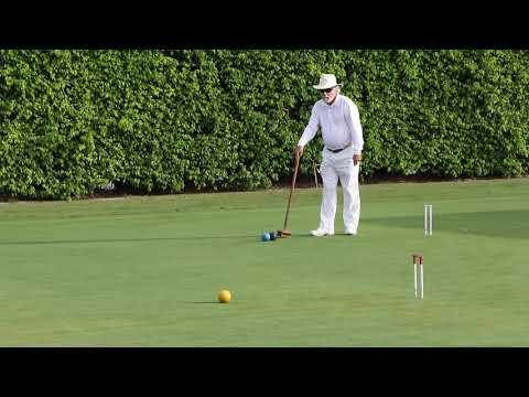 Croquet(US):Huneycutt/Eckstrom v Blamire/McDermott   Seniors-Masters 2018