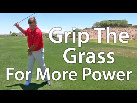 Golf Backswing – Grip The Grass For More Power