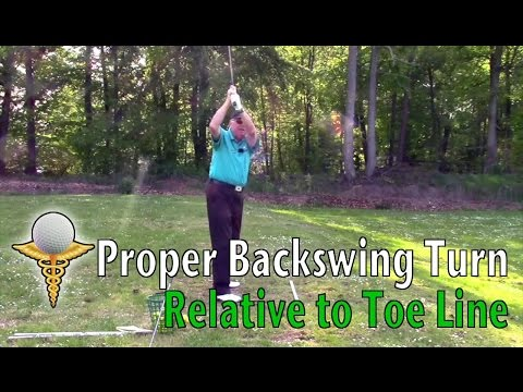 Defining the Correct Backswing Turn Relative to Toe Line in the Golf Swing – Don Trahan
