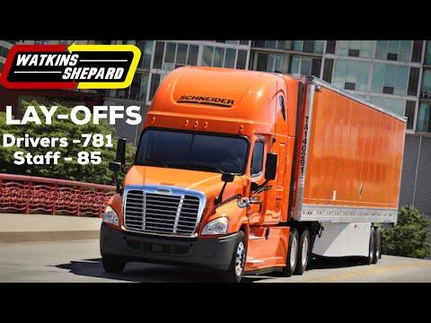 Schneider National Truck Driver Lay-offs 2019
