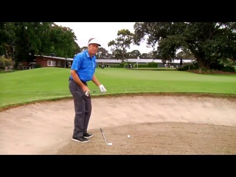 Stuart Appleby golf tips – Getting out of a sand trap