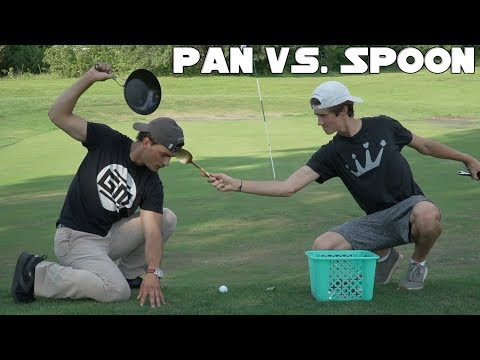 Playing Gm golf with a pan