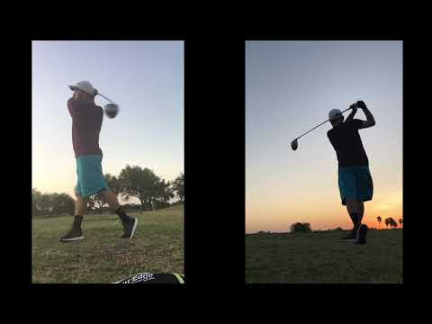 Dual angle driver swing, left handed.