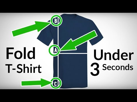 T-Shirt Folding HACKS | Fold Shirt In Under 3 Seconds? | 4 Ways To Fold Tee's