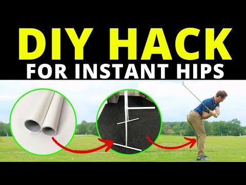 DIY HACK!!! GET INSTANT HIP ROTATION FOR YOUR GOLF SWING