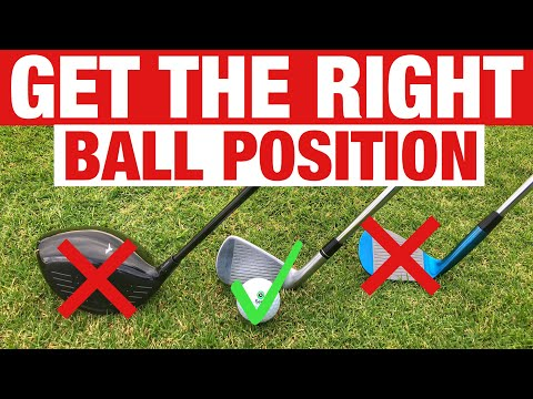 GET THE RIGHT GOLF BALL POSITION – Golf Tips