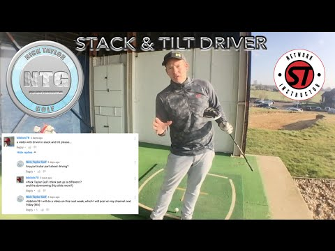 STACK AND TILT GOLF SWING WITH THE DRIVER | GOLF TIPS | LESSON 1