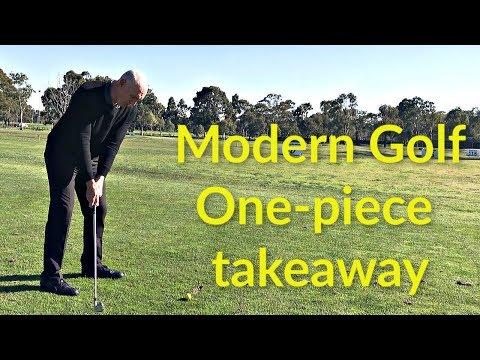 Modern Golf   One piece takeaway