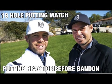 18 HOLE PUTTING MATCH/PRACTICE PUTTING DRILL