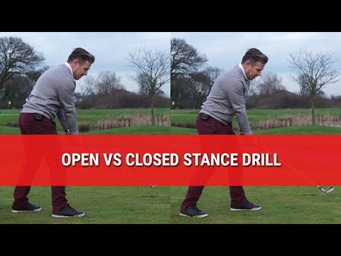 Golf Stance Drill – Practice with OPEN vs CLOSED Golf Stance