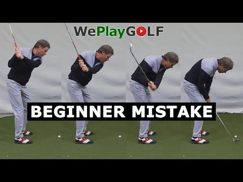 Golf beginner mistake: Don't go down on the golf ball
