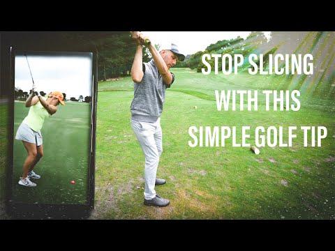 STOP SLICING SIMPLE GOLF TIP