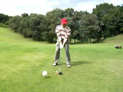 150 Golf Swing Left Handed on 091010 at Tokyo International Golf Club No.10 Par4 418Y