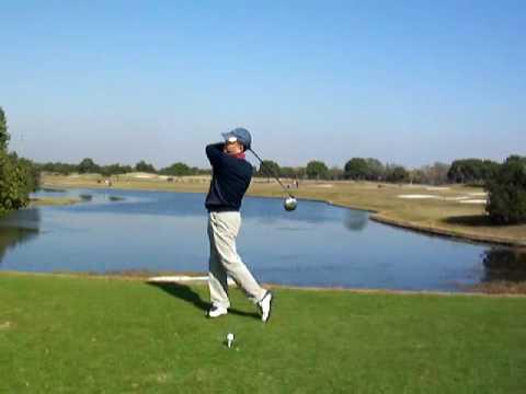 98 golf swing left handed  ゴルフスイング 081130 高尔夫 挥杆