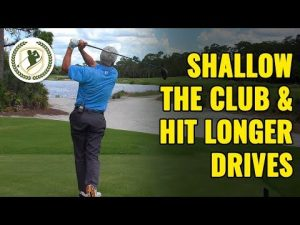 (Golf Swing Drills) How to Shallow the Club & Hit Longer Drives!