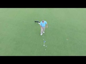 Golf Tips –  Putting Practice with a DJI Phantom 3  from Above