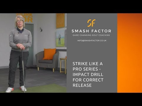 Golf impact position drill to get your hands forward, body rotating and arms extending