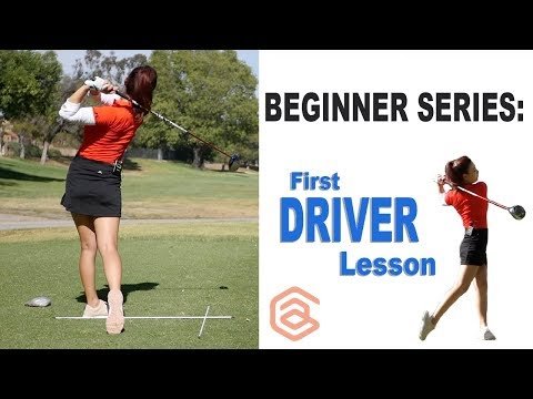 BEGINNER SERIES 007: First Driver Lesson   Golf with Aimee