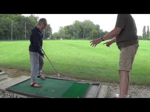 Golf de Beaune Levernois – Driving Range with Kids and Grandpa – France 2014