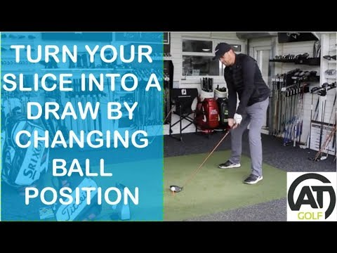 GOLF TIPS: TURN YOUR SLICE INTO A DRAW WITH DRIVER BY JUST CHANGING BALL POSITION