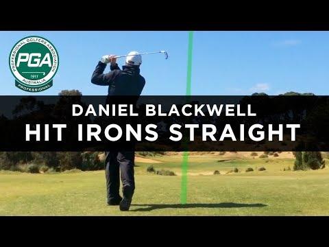 HIT IRONS STRAIGHT | Daniel Blackwell | PGA TV