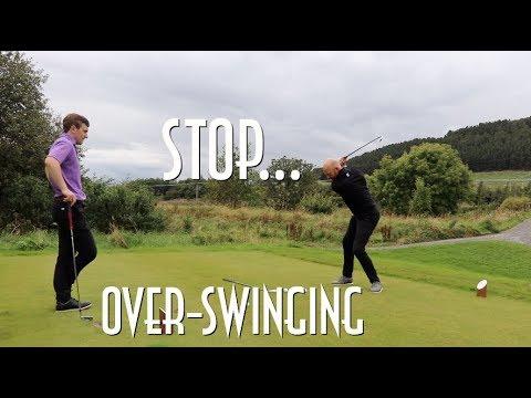 Shorter golf swing for more distance