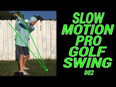 Slow Motion Pro Golf Swing   Down The Line   Swing Plane
