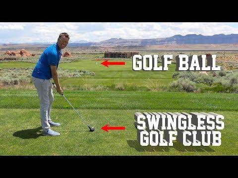 Swingless Golf Club vs. Human