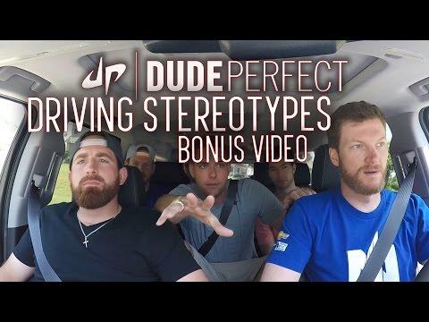 Dude Perfect + Dale Earnhardt Jr Driving Stereotypes BONUS Video