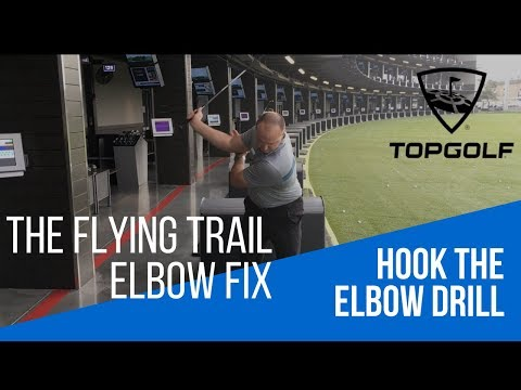 GOLF TIP – FIX THE FLYING TRAIL ELBOW