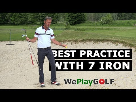 Golf instruction: The secret of an easy BUNKER SHOT – practice with your 7 iron