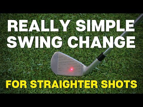 REALLY SIMPLE GOLF SWING CHANGE TO HIT BETTER AND STRAIGHTER SHOTS