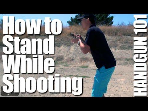 How to Stand When Firing a Pistol: Shooting Stance – Handgun 101 with Top Shot Chris Cheng