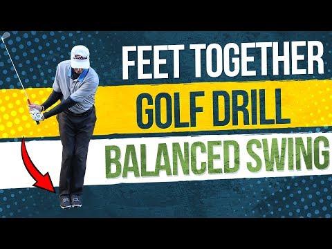 Feet Together Golf Drill ➜ Make A Balanced Swing