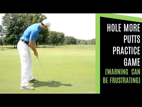 GOLF: HOW TO HOLE MORE PUTTS (FRUSTRATING) PRACTICE GAME