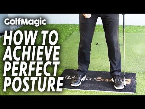 How to achieve PERFECT golf posture   Best Golf Beginner Tips #3   GolfMagic