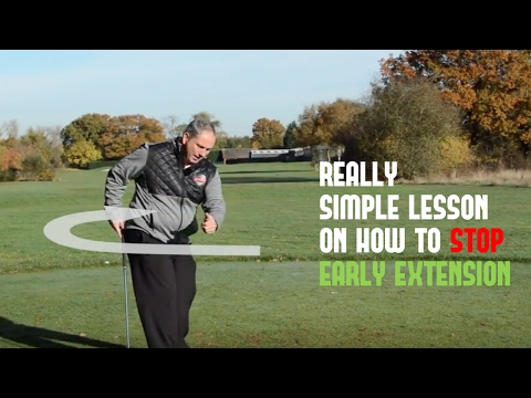 Golf Swing Early Extension Fix | How To Stop Early Extension With A Simple Golf Tip For Backswing