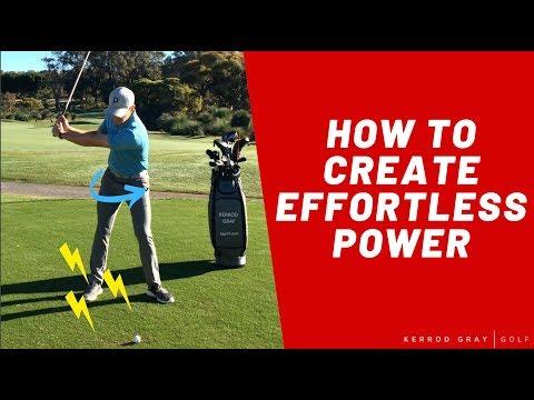 GOLF TIPS: CREATE EFFORTLESS POWER