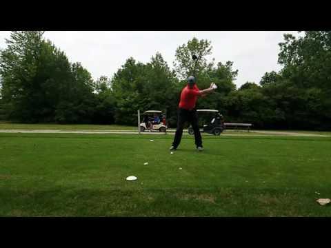 Left handed slow motion swing